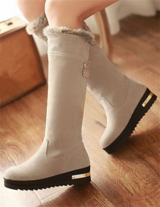 Sliver Grey Cute Lady Snowy Boots pictures & photos