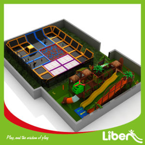 Customized Long Slide Children Indoor Gymnastics Trampoline Park for Amusement pictures & photos