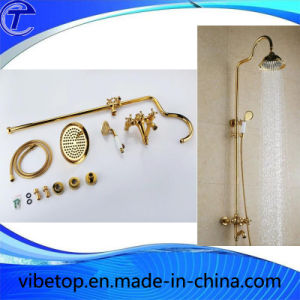 Wholesale Gold Plating Rainfall Shower Set pictures & photos