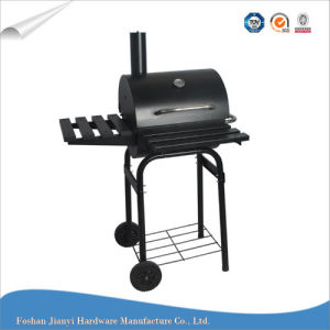 Black Color Barrel Smoker Barbeque Grill with Warning Rack