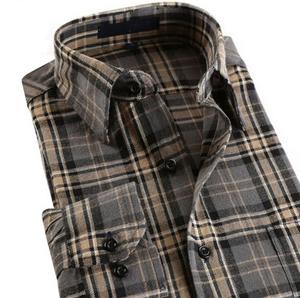 Men Cotton Flannel Casual Check Shirt pictures & photos