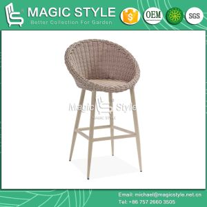 Modern Bar Stool with Wicker Weaving Outdoor Rattan Bar Stool (Magic Style) pictures & photos