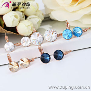 28666 New Fashion Elegant Crystal Jewelry Earring Hoop in Copper Alloy pictures & photos