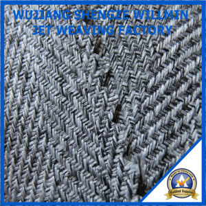 Polyester Imitation Wool Herringbone Light Softness Fabric for Garments pictures & photos