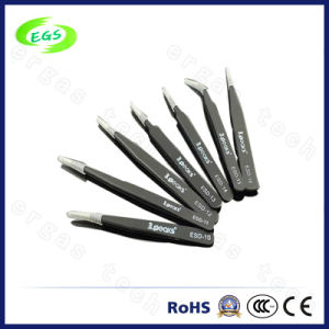Stainless Steel Black ESD (Anti-static) Tweezers Series (ESD-10) pictures & photos