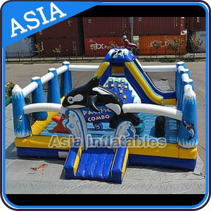 Commercial Use Inflatable Sea World Moonwalk for Children pictures & photos