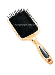 Wooden Color Effect Painting Hair Brush for Hair Salon and Home pictures & photos