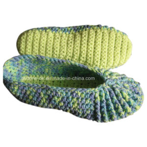 Custom OEM Handmade Knit Crochet Wool Slippers Shoes Socks pictures & photos