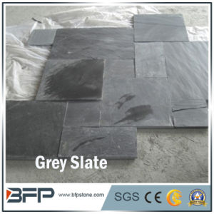Popular White/ Grey Slate Mosaic Pattern for Exterior Wall Decoration pictures & photos