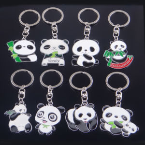 New Arrival Custom Souvenir Metal Pandas Key Chain pictures & photos