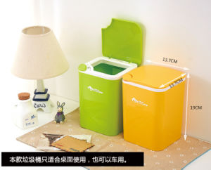 Suzhou Manufacturer Recyclable Plastic Dustbin for Home Use pictures & photos