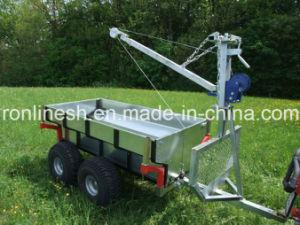 Tipping Style 1000kgs ATV Trailer/Quad Trailer/UTV Trailer/ Lumber/Log/Timber Trailer/Building Material Trailer/Box Trailer with Crane CE pictures & photos