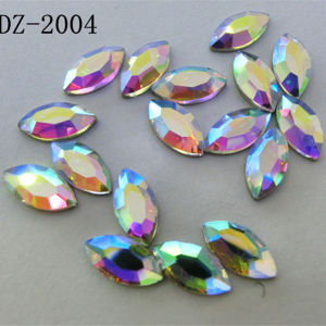4*8mm Navette Crystal Hot Fix Rhinestone in Ab Color pictures & photos