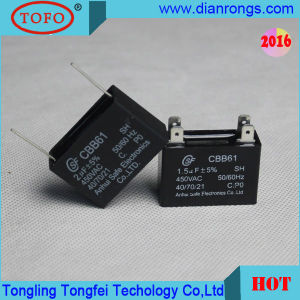 Fan Electronic Capacitor Cbb61 with Wire Series pictures & photos