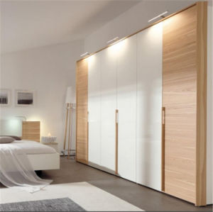 Ritz Home Furniture White High Gloss Bedroom Furniture Set Wooden Wardrobe