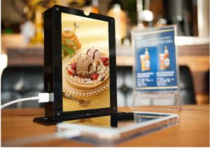 Table Top Power Bank for Advertising and Restaurant Menu and Frame with 15000mAh to 40000mAh Battery pictures & photos