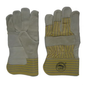 Natural Color Cow Grain Leather Driver Work Glove pictures & photos