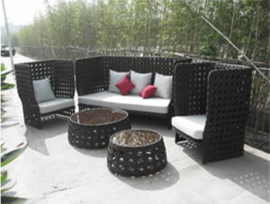 High Back Wicker Sofa Set (WS-06026) pictures & photos