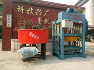 Hydraulic Semi Automatic Concrete Block Making Machine Cement Brick Making Machinery with Mixer pictures & photos