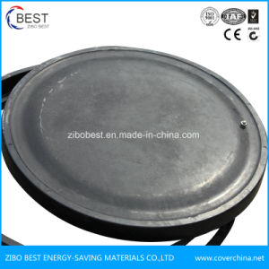 A15 En124 SMC Round 700*50mm FRP Manhole Cover with Frame pictures & photos