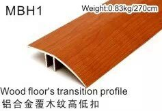 Mbh Seriesflooring Accessories Covered Wearable Wood Veneer Aluminum Profiles for Flooring 12mm~15mm pictures & photos