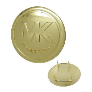 "45mm Gold Round ""Mk"" Metal Label pictures & photos"