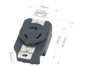 043062001 NEMA American spin lock socket pictures & photos