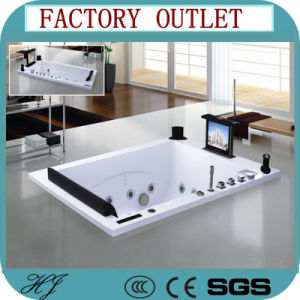 with TV Massage Hot Tub Bathtub for Two Person (717) pictures & photos