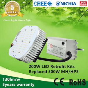 5years Warranty 100-277VAC 130lm/W ETL Listed 200W LED Retrofit Kits to Replace 500W Mh/HPS pictures & photos