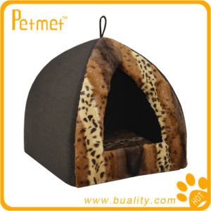 Faux Fur Pyramid Cat Bed with Removable Cushion (PT49260)