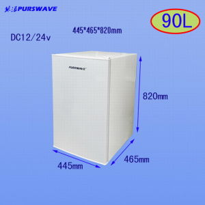 Purswave 90L DC Fridge 12V 24V Solar Table Top Refrigerator Battery Powered Single Door RV Fridge pictures & photos