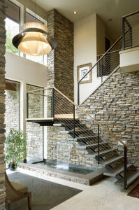 New Design Steel Cable Rails Wood Stair pictures & photos