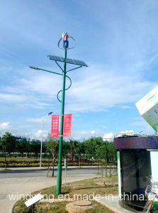 Vertical Axis Wind Turbine & Solar Panel for LED Light System pictures & photos