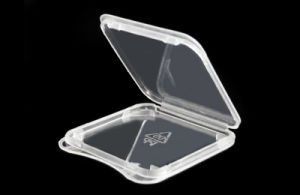Transparent Plastic Standard SD SDHC Memory Card Case Holder Box Storage pictures & photos