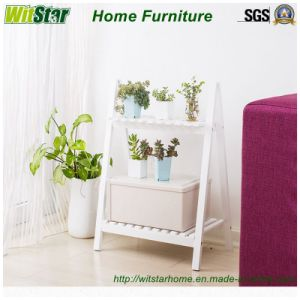 2016 Hot Sale White Display Shelf for Home Furniture (WS16-0060, with 2 Tier)