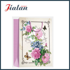 Retro Flowers Design 4c Printed Shopping Carrier Gift Paper Bags pictures & photos