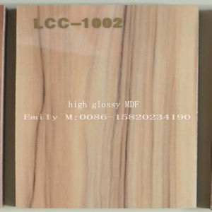 High Glossy Wooden MDF for Kitchen Cabinet Door (LCC-1002) pictures & photos