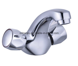 Deck Mounted Double Handle Basin Tap (H57-101) pictures & photos