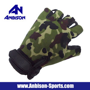 Anbison-Sports Tactical Half Finger Assault Gloves pictures & photos