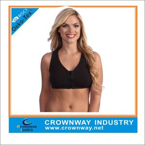 Custom Most Supportive Ladies Sexy Sports Bra with Front Zipper pictures & photos