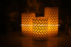 Real Wax LED Candle in Melt Edge (HR99)