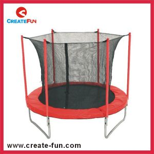 Createfun Cheap Professional Outdoor Round Trampoline with Enclosure