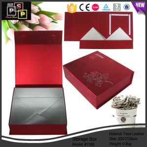 China Manufacturer Custome Delicate PU Leather Magnetic Closure Gift Storage Box (1168) pictures & photos