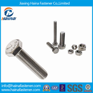 Stock DIN933 Full Thread Stainless Steel Hexagon Bolts pictures & photos
