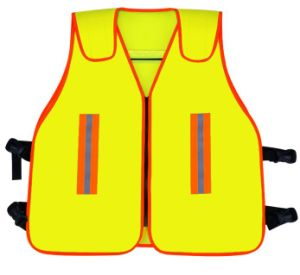 High Visibility Safety Vest, Closed with Zipper pictures & photos