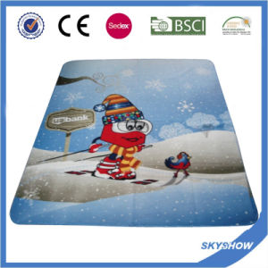 2017 Hot Sale Promotion Polar Fleece Custom Print Polyester Blanket pictures & photos