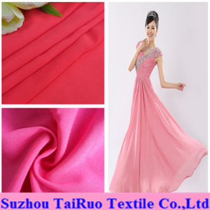 100% Polyester Spandex Chiffon for Lady Wedding Dress Fabric pictures & photos