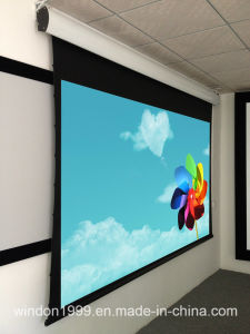 """150"""" Tab Tensioned Motorized Screen with Rear Projection pictures & photos"""