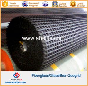 50kn/Mx50kn/M Fiberglass Geogrid Coated with Asphalt Bitumen pictures & photos