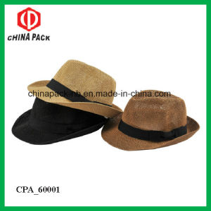 Chapeau Fedora Hats with Black Ribbon for Men (CPA_60116) pictures & photos